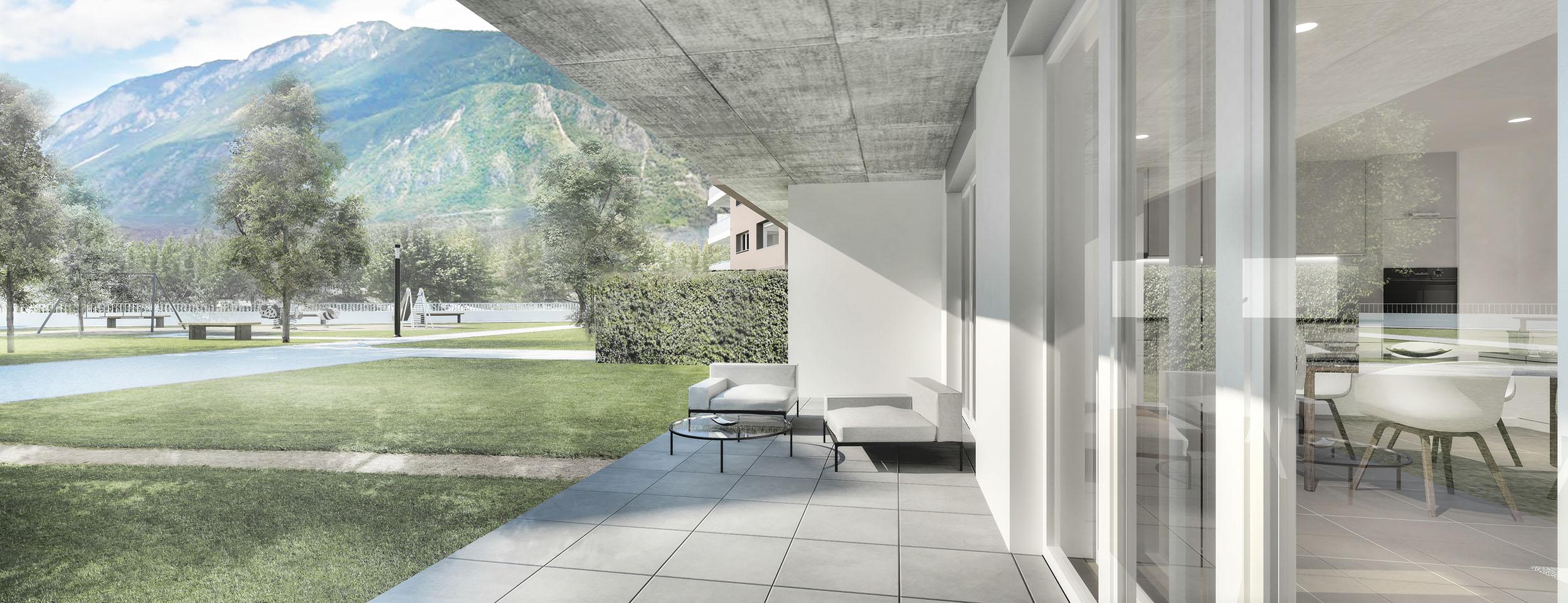 Terrasse 4,5 pièces